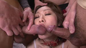 Hairy asian uncensored threesome HD