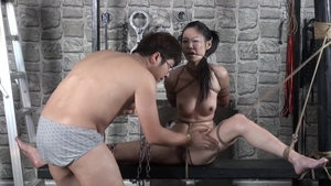Hairy japanese photographer bondage in HD