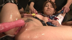 Gangbang starring hairy asian brunette in sexy stockings HD