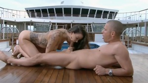 Sophia Santi got her pussy smashed outdoors