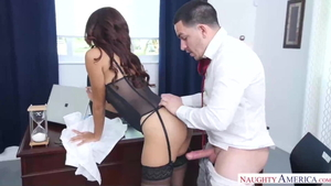 Interracial banging in office inked russian in HD
