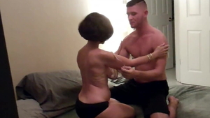 Hard pounding along with young amateur