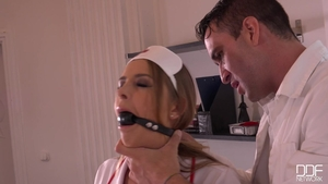 Blonde hair Candy Alexa likes bondage in sexy lingerie HD
