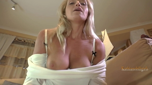 Adorable mature receives nailed rough in pantyhose