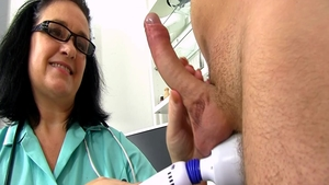 Nurse tease natural tits