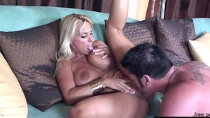 Large tits stepmom Holly Halston has a soft spot for nailing