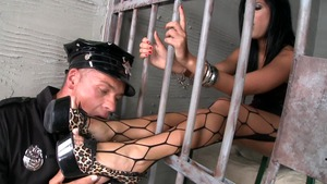 Madison Parker bends to get fucked in jail