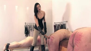Amazing mistress bare fucked in the butt