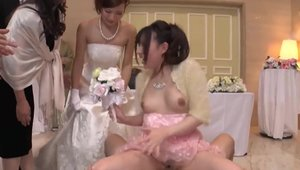 Taboo japanese group sex at wedding