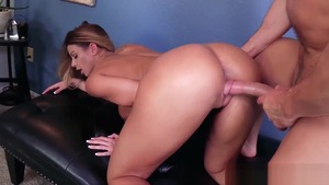 Big ass Brooklyn Chase with Laz Fyre hardcore cum on face