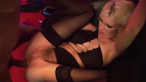 Luscious blonde hair feels the need for hardcore sex