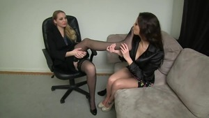 Lesbo hypno feet fetish rubbing