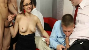 Barra Brass in her lingerie rough doggy at the party