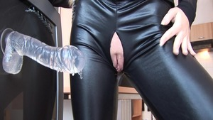 Large boobs Cayenne Klein anal fucking in latex